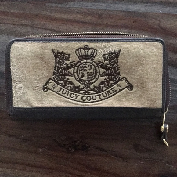 Juicy Couture Handbags - SOLD Juicy Couture Leather and Velour wallet